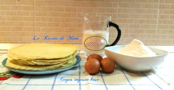Ricetta crepes impasto base